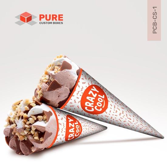 Custom ice cream cone sleeves